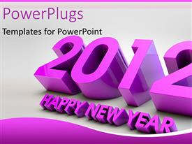 PowerPlugs: PowerPoint template with a text that spells out '2012 Happy New Year'