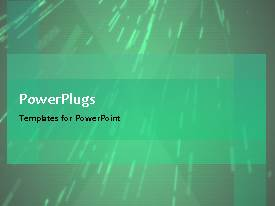 PowerPlugs: PowerPoint template with 3-d light green abstract background