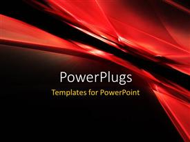 PowerPlugs: PowerPoint template with 3d abstract grid texture with black color