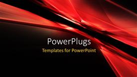 PowerPoint template displaying 3d abstract grid texture with black color