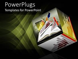 PowerPlugs: PowerPoint template with a 3D box with a number of graphs