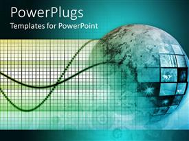 PowerPlugs: PowerPoint template with 3D depiction of globe, planet earth with country flags and wires coming out of globe