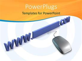 PowerPlugs: PowerPoint template with 3D description of the internet and world wide web on white background