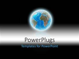 PowerPlugs: PowerPoint template with 3d earth glowing with black color