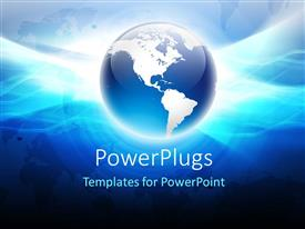 PowerPlugs: PowerPoint template with 3d globe with shining surface