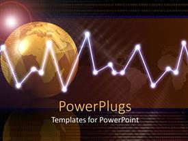 PowerPlugs: PowerPoint template with 3D graphics of a gold colored globe and a bright light