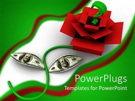PowerPlugs: PowerPoint template with 3D graphics of a green question mark over red open boxes