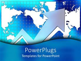 PowerPlugs: PowerPoint template with 3D graphics of a large silver colored zigzag arrow