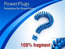 PowerPlugs: PowerPoint template with 3D graphics of lots of blue colored humans forming a large question mark
