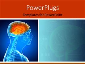 PowerPlugs: PowerPoint template with 3D graphics of a man with a transparent head showing his brain