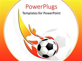 PowerPlugs: PowerPoint template with 3D image of a ball with fire on it