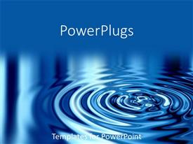 PowerPlugs: PowerPoint template with a 3D image of a beautiful reflective water ripple