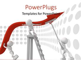 PowerPlugs: PowerPoint template with 3D men working as a team to survive financial crisis