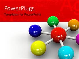 PowerPlugs: PowerPoint template with 3D molecular structure, with chemical formulas