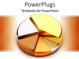 PowerPlugs: PowerPoint template with 3D pie chart made of precious metals, gold, silver, bronze, copper