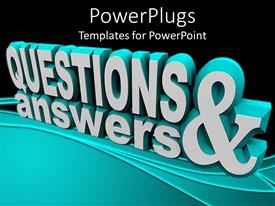 PowerPlugs: PowerPoint template with 3D rendering of text QUESTIONS & ANSWER on black surface