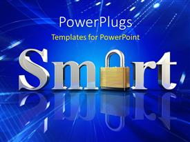 PowerPlugs: PowerPoint template with a 3D text that spell out the word ' Smart'