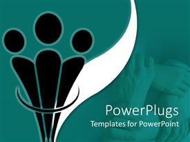 PowerPlugs: PowerPoint template with aadepiction of lots of human hands joined together in a bond