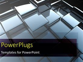 PowerPlugs: PowerPoint template with abstract 3d cubes