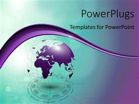 Colorful PPT theme having abstract 3D tech globe with colors