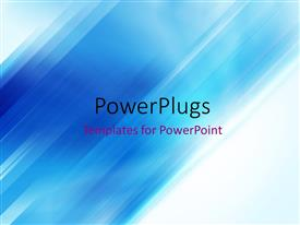 PowerPlugs: PowerPoint template with abstract angled stripes background in blue and white