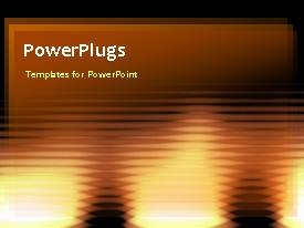PowerPlugs: PowerPoint template with abstract animated background with horizontal lines