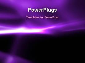 PowerPlugs: PowerPoint template with abstract animated background with light glow on purple surface