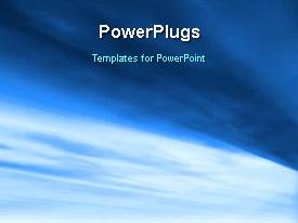 PowerPlugs: PowerPoint template with abstract animated background with light glow on blue surface