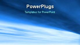 PowerPoint template displaying abstract animated background with light glow on blue surface - widescreen format