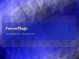 PowerPlugs: PowerPoint template with abstract animated background with ornament in blue surface