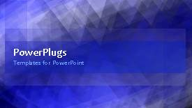 PowerPlugs: PowerPoint template with abstract animated background with ornament in blue surface - widescreen format