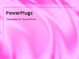 PowerPoint template displaying abstract animated background with pink theme