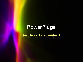 PowerPlugs: PowerPoint template with abstract animated colorful depiction in dark background