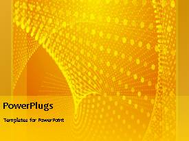PowerPlugs: PowerPoint template with abstract animated depiction with beautiful yellow theme