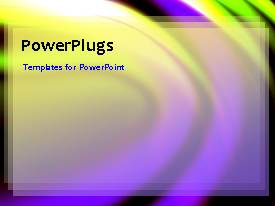 PowerPlugs: PowerPoint template with abstract animated depiction with colorful ripples