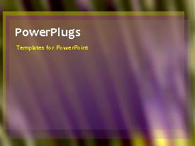 PowerPlugs: PowerPoint template with abstract animated depiction of green wavy background