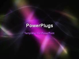 PowerPlugs: PowerPoint template with abstract animated depiction with hues in background