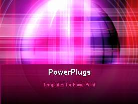 PowerPlugs: PowerPoint template with abstract animated depiction with pink and blue theme
