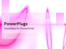 PowerPlugs: PowerPoint template with abstract animated depiction of pink pulse lines on white background