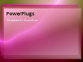 PowerPlugs: PowerPoint template with abstract animated depiction with pink theme