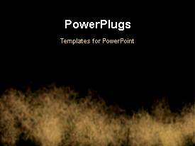 PowerPlugs: PowerPoint template with abstract animated fire burning on dark surface