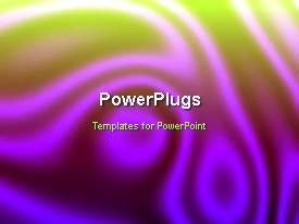 PowerPoint template displaying abstract animated organic background with color mix