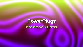 PowerPoint template displaying abstract animated organic background with color mix - widescreen format