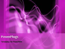 PowerPlugs: PowerPoint template with abstract animation of purple smoke on black background