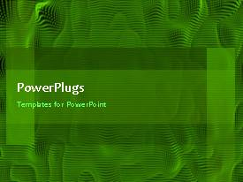 PowerPoint template displaying abstract animation of spongy green background