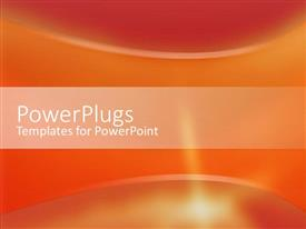 PowerPlugs: PowerPoint template with abstract array of red and orange colors with curves