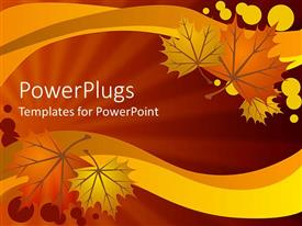 PowerPlugs: PowerPoint template with abstract autumn leaves on warm background
