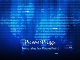 PowerPlugs: PowerPoint template with abstract background with binary numbers forming world map