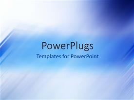 PowerPlugs: PowerPoint template with abstract background with blue motion blur and colors