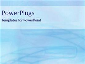 PowerPlugs: PowerPoint template with abstract background with blue and purple faded shapes